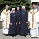 Novices with Father Higgins, Father LaFleur and Novice Mistress, Sister Elizabeth Marie