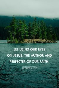 Fix our eyes on Jesus